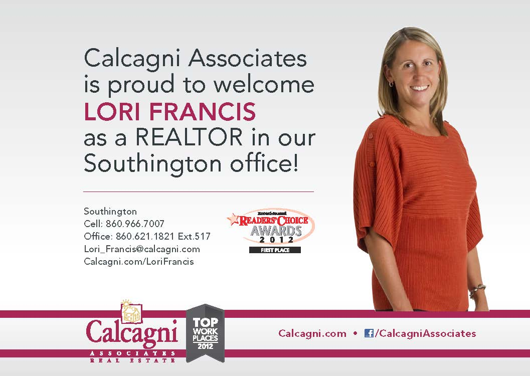 welcome to our newest sales associate lori francis calcagni real