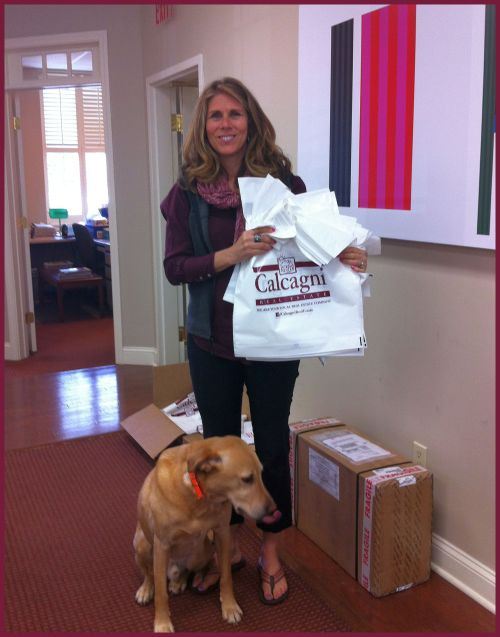 Cheshire Realtor Gina DeVito Shumilla and her little helper, Baylor