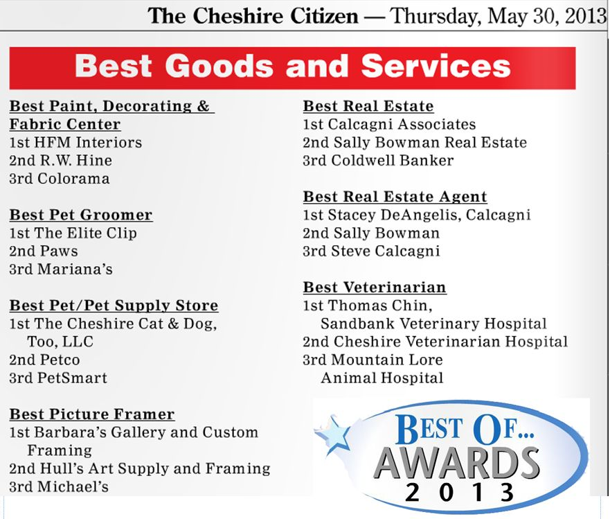 Cheshire Citizen Best of Awards 2013