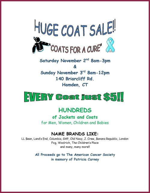 Coat Sale Poster 2013 - TKC