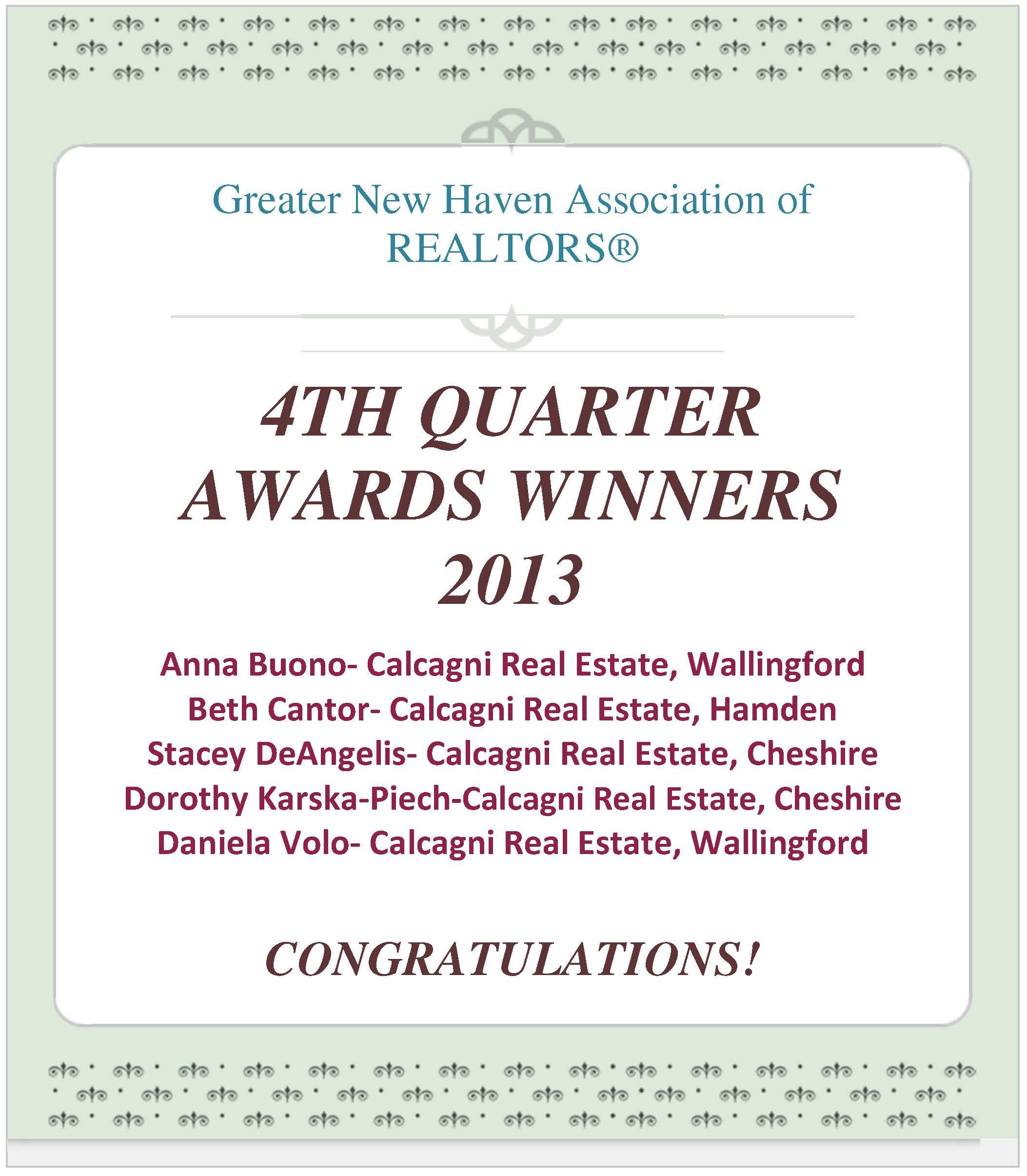 GNHAR Winner Q4 2013